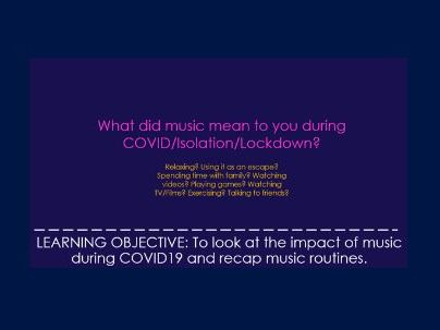 The Impact of COVID on music