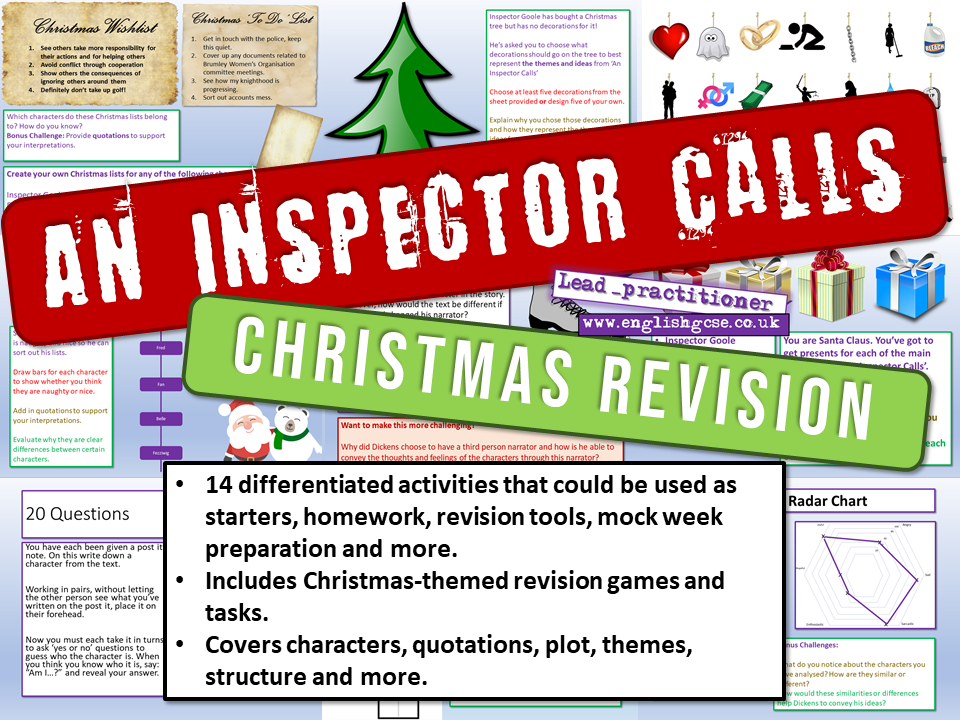 An Inspector Calls Christmas Revision