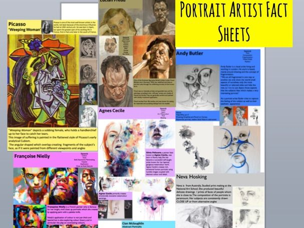 Portrait Artist Fact Sheets Double Sided GCSE