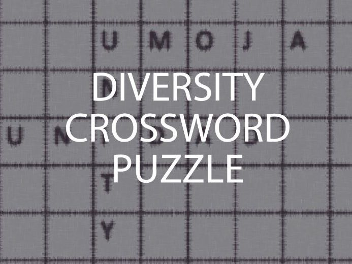 Diversity Crossword Puzzle (PSHE)
