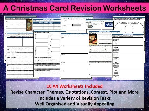 A Christmas Carol Revision Worksheets