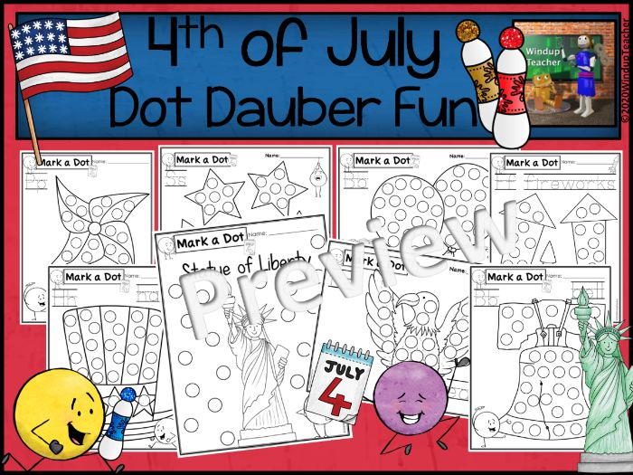 Fourth of July Dot Dauber Set