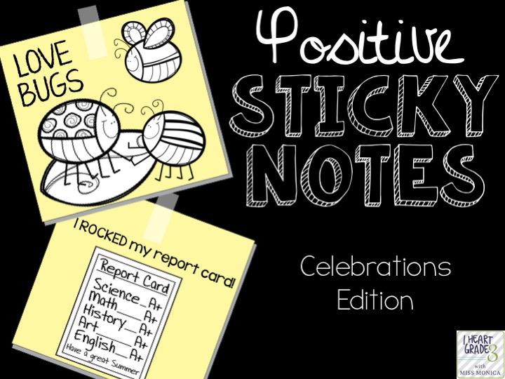 Positive Sticky Notes Celebrations Edition