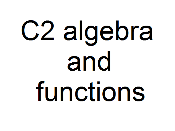C2 algebra and functions