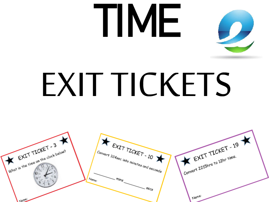 'Time' Exit Tickets