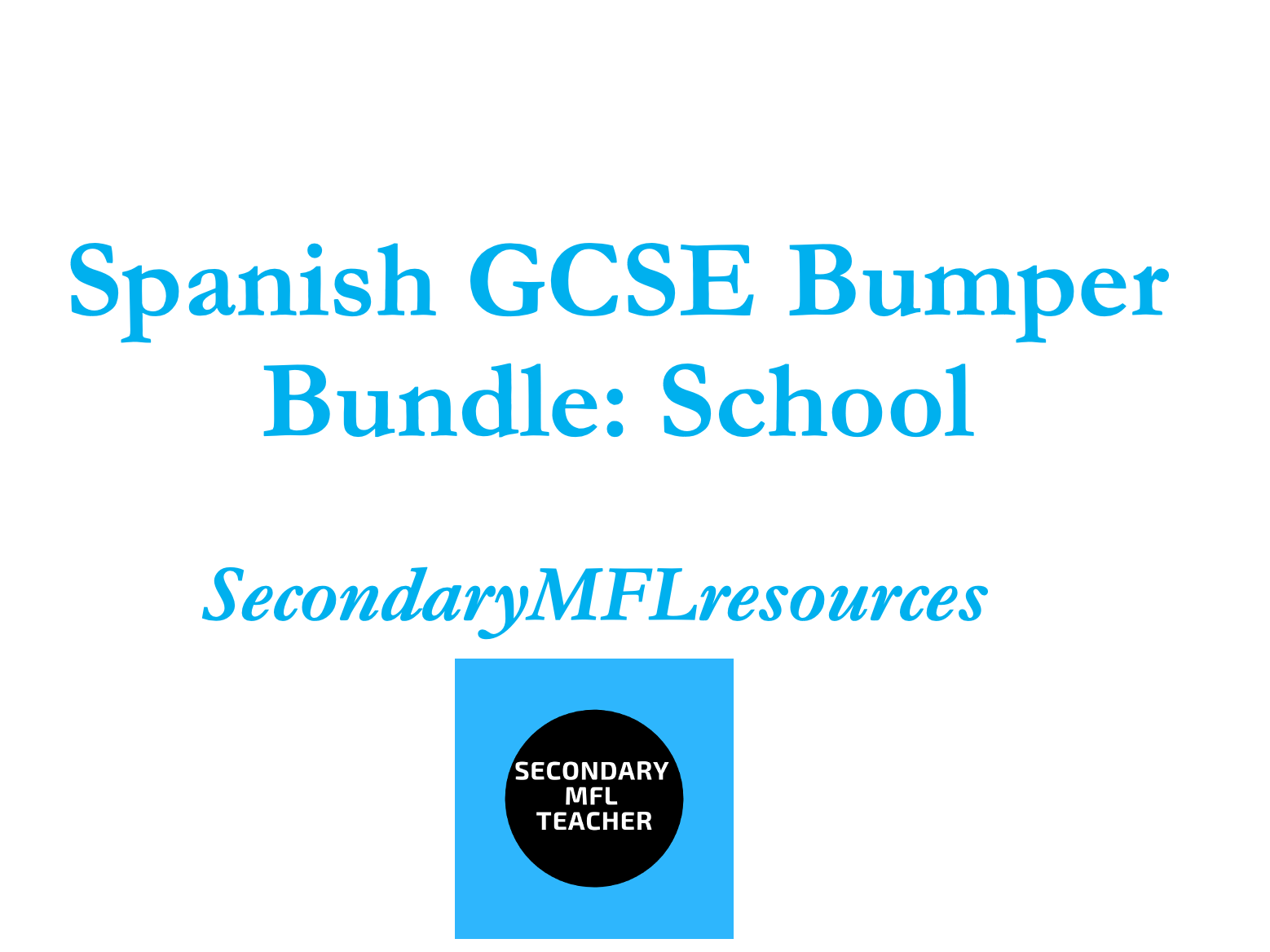 Spanish School / mi colegio - Unit Bundle (20 Resource Packs)