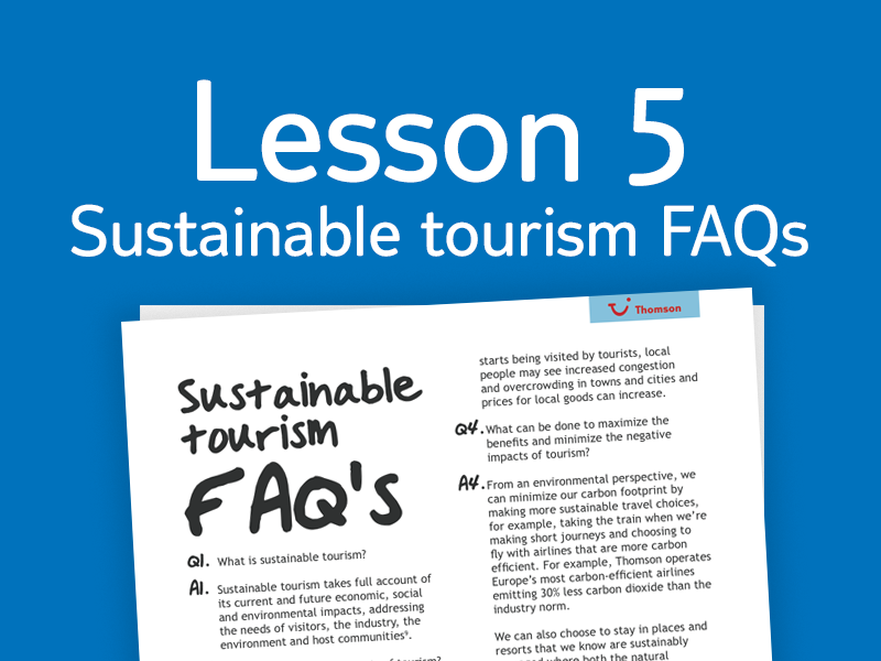 Lesson 5 - FAQs for teachers