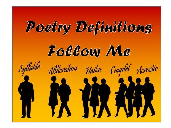 Poetry Definitions Follow Me