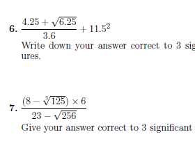 Calculator use worksheet no 2 (with answers)