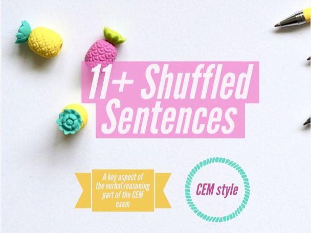 11+ Shuffled Sentences