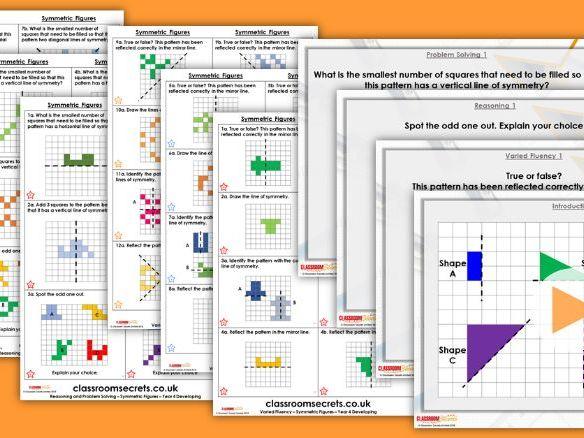 Year 4 Symmetric Figures Summer Block 5 Step 6 Maths Lesson Pack