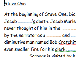 Individual summaries for each stave in A Christmas Carol