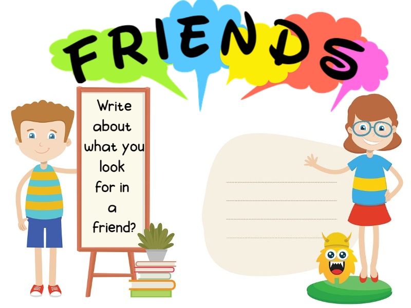 Write about Friends Worksheets KS1