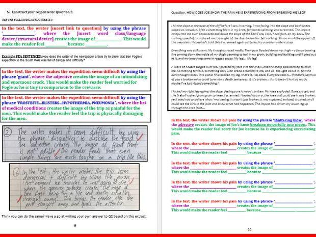 EDUQAS Paper 2 Reading exam Revision Pack - GCSE English Language