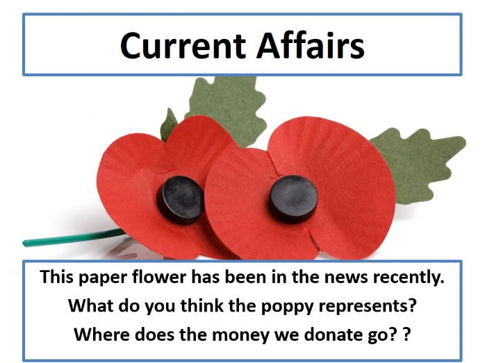 Current Affairs Form Time Activity - Remembrance