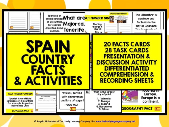 SPAIN COUNTRY FACTS & ACTIVITIES 1