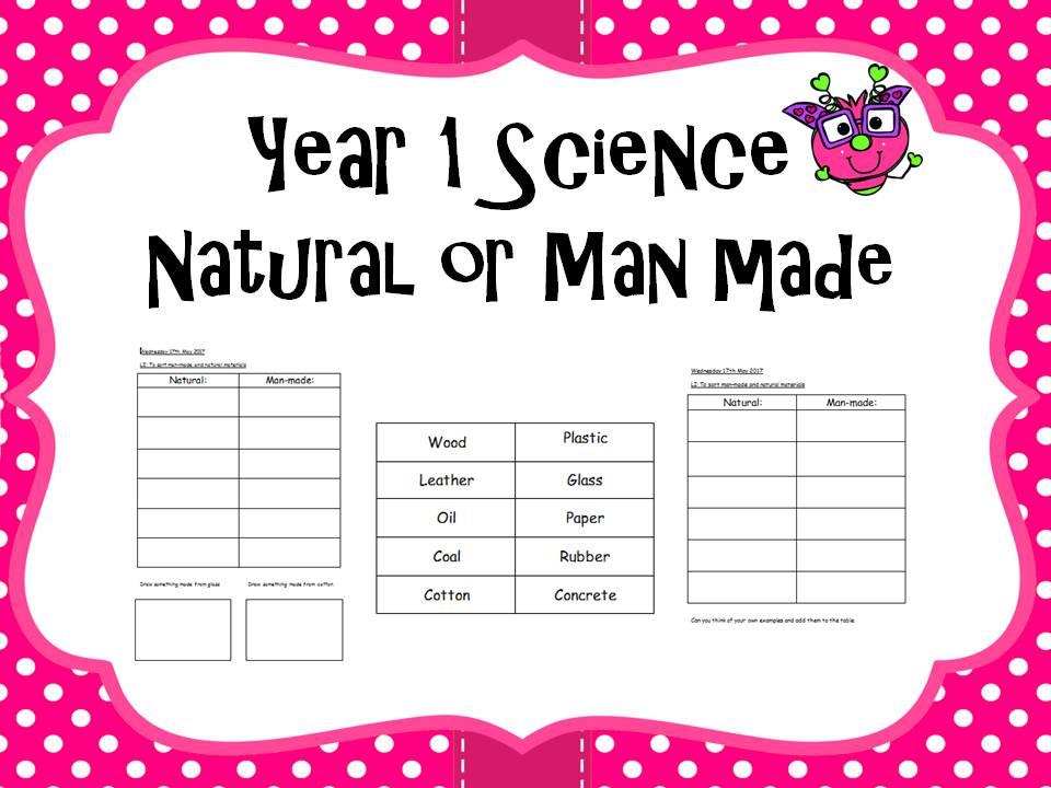 Year 1 Science - natural or man made