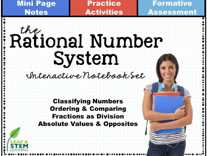 Rational Number System Interactive Notebook Set