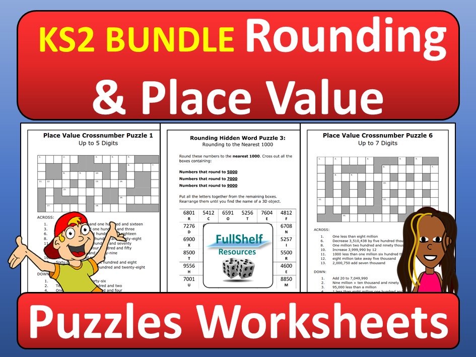 Place Value and Rounding Worksheets