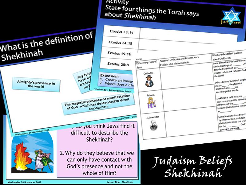 GCSE Judaism - Shekhinah (2 Lessons)