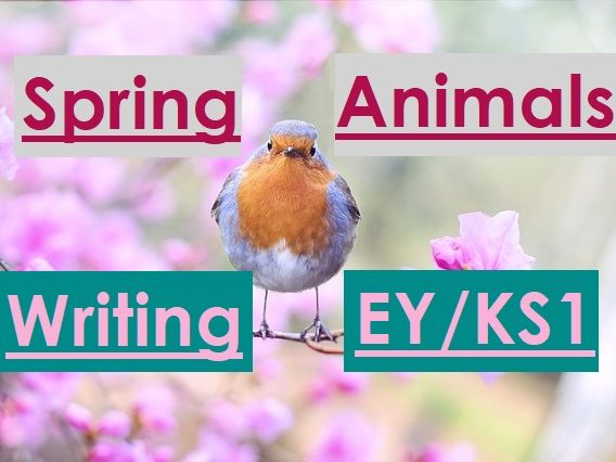 SPRING ANIMALS Writing Sheet Stack, KS1