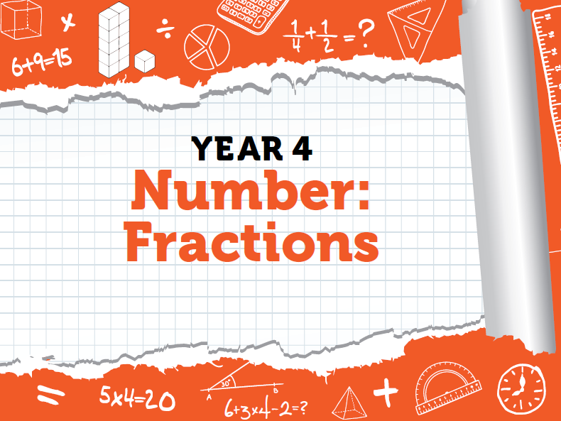 Year 4 Fractions Pack 3 - Spring