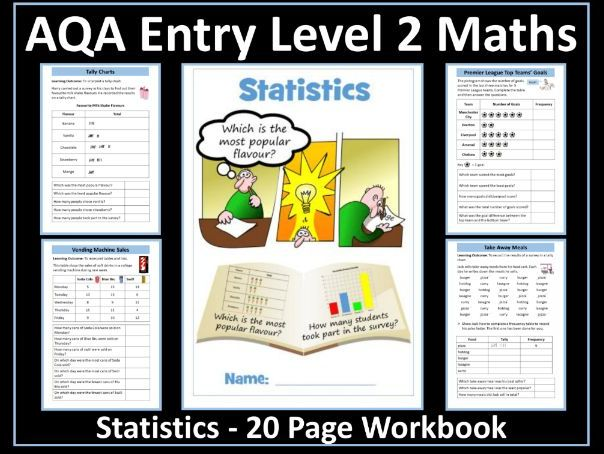 Statistics AQA Entry Level 2 Maths