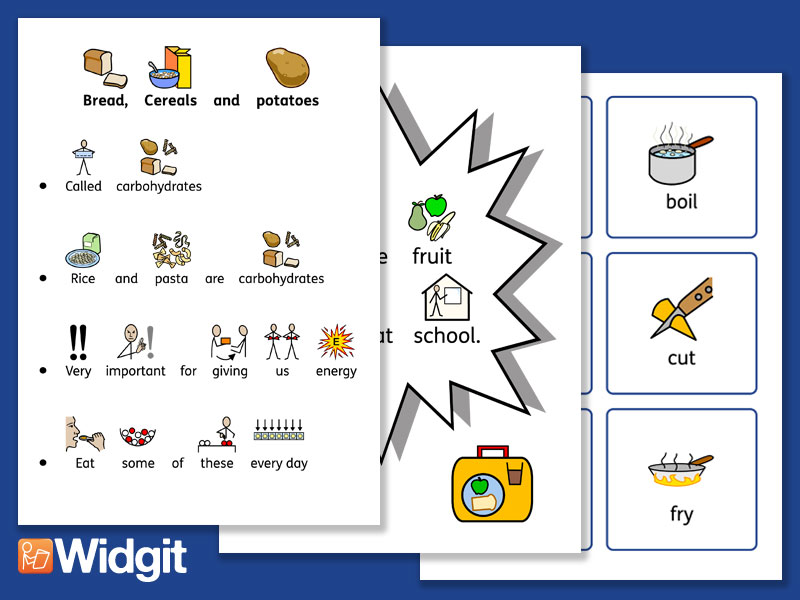 Healthy Eating Pack with Widgit Symbols