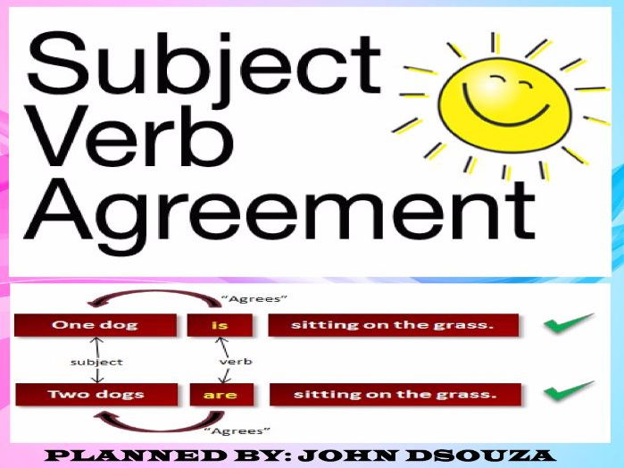 Subject Verb Agreement Lesson Plan And Resources By John421969