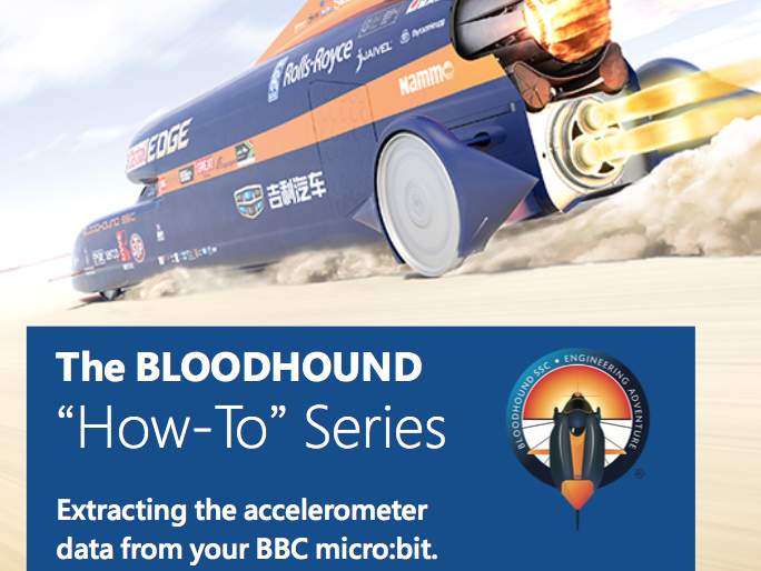 How to use a Micro:bit to measure motion in a Bloodhound SSC Rocket Car. (Microbit)