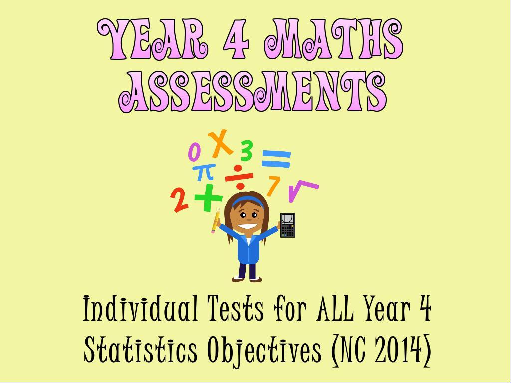 Year 4 Statistics Assessments