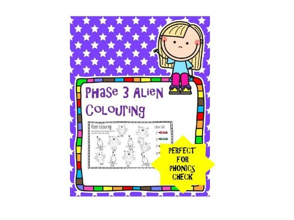 Phase 3 Phonics Alien Colouring