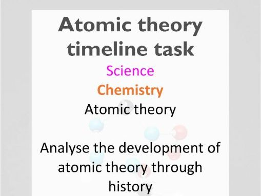 Atomic theory timeline (editable) - AC Year 9 Science - Chemistry (atomic theory)