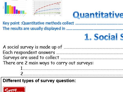 AQA GCSE SOCIOLOGY RESEARCH METHODS REVISION WORKSHEETS POWERPOINT
