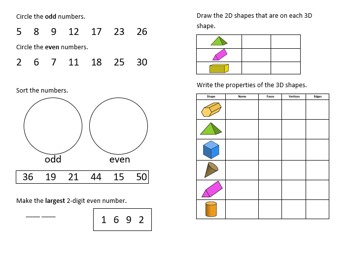 Year 2 - 'One a Day' Revision Booklet