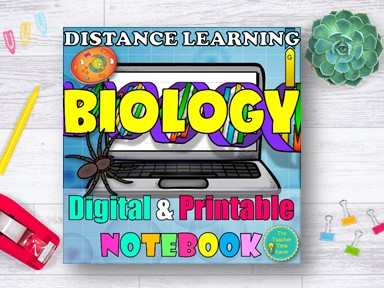 Biology Distance Learning Notebook Year Resource