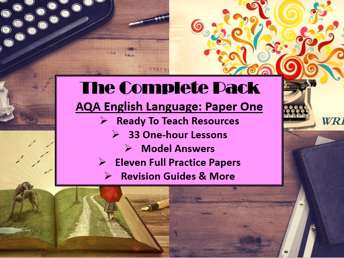 The Complete English Language Paper One Pack: Ready to teach!