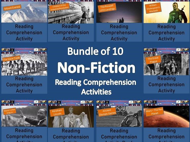 Years 6-8 Non-Fiction Reading Comprehension Activities