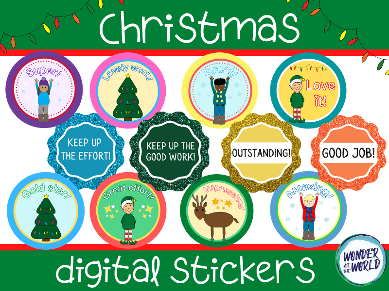 Christmas digital stickers