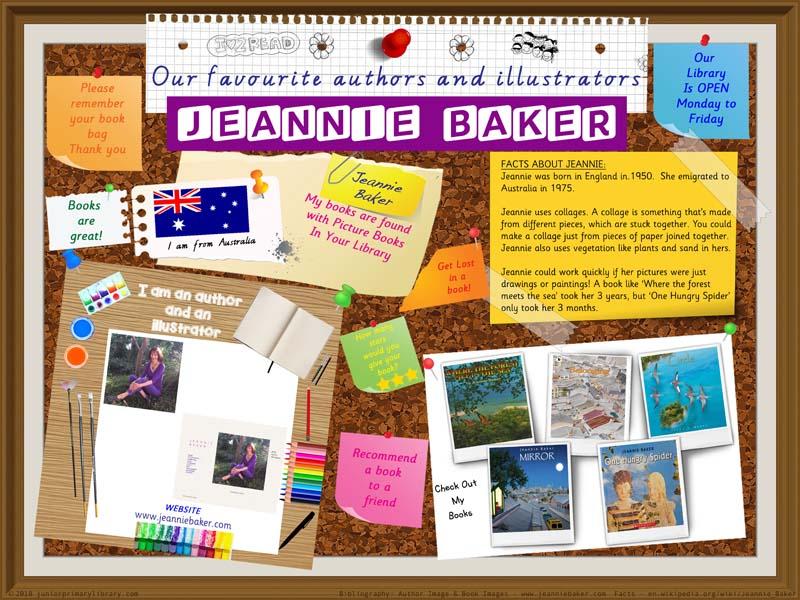 Library Poster - Jeannie Baker Australian Children's Author Illustrator