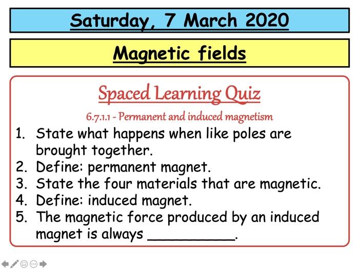 AQA GCSE (9-1) - Magnetic fields