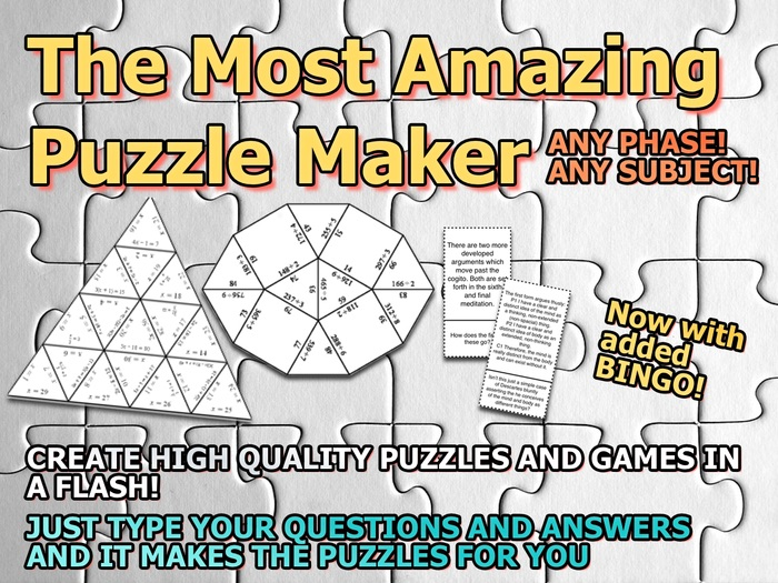 The Most Amazing Puzzle Maker