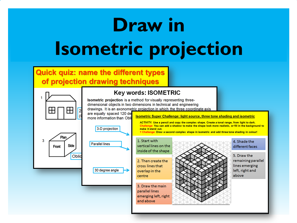 9. Graphic Design: Isometric projection