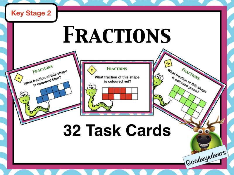 Maths Task Cards - Fractions
