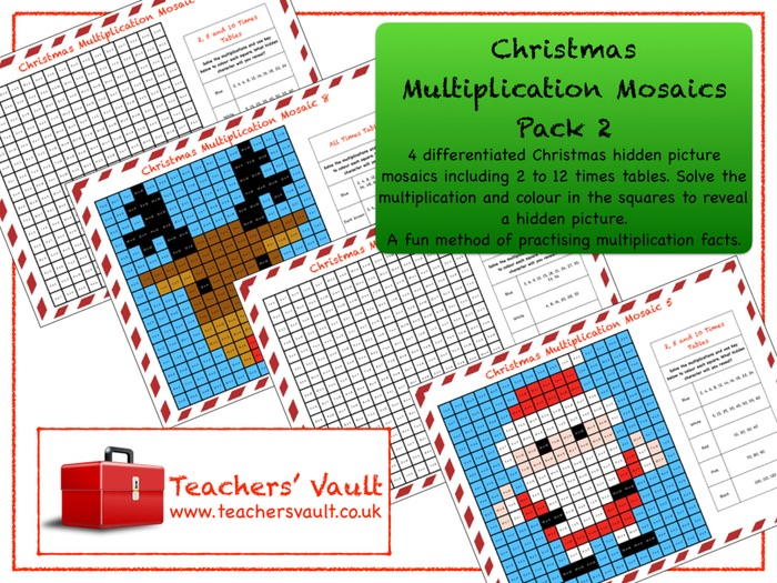 Christmas Multiplication Mosaics Pack 2