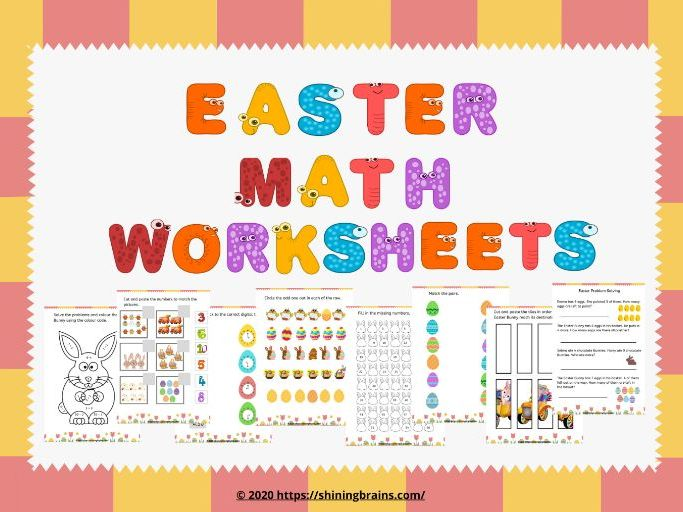 Easter Free Maths Worksheets – Easter Activities - Easter Free Printable