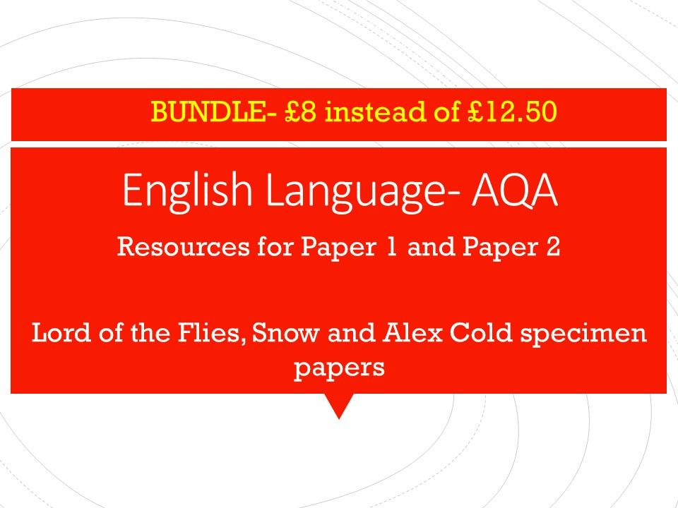 English Language Paper 1 and 2