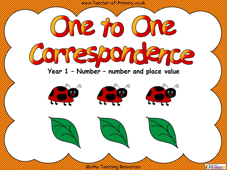 One to One Correspondence - Year 1
