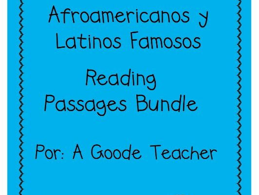 Spanish Reading Comprehension Famous African Americans & Latinos Bundle