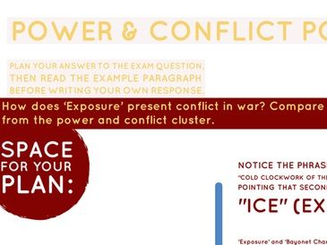 Power & Conflict Poetry: War Conflict Essay Question & Response